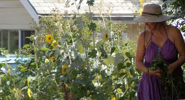 Becky in the Garden